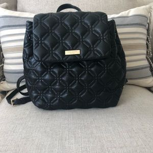EUC KATE SPADE BLACK QUILTED BACKPACK